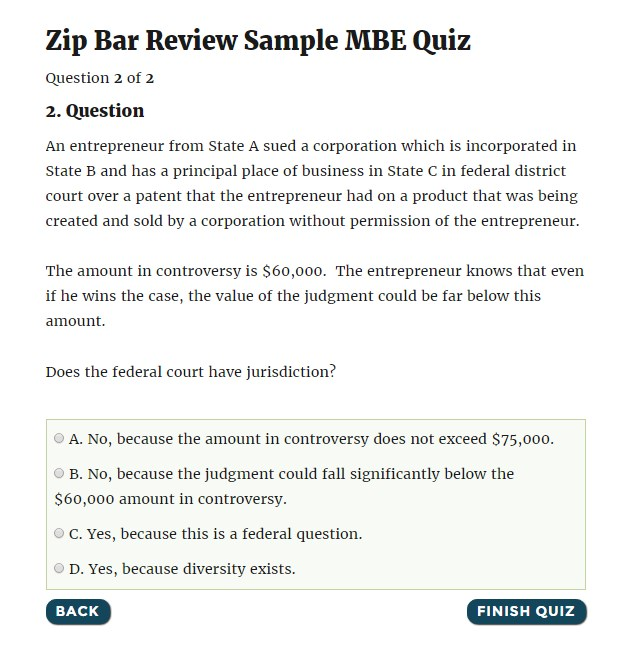 Mbe & mpre bar exam products | zip bar review.